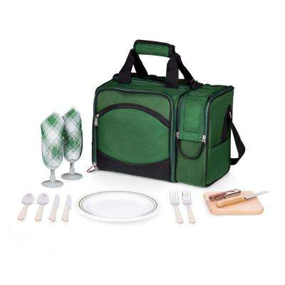 Malibu Green Wood Picnic Cooler Tote