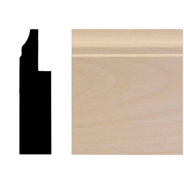 3/4 in. x 3 in. x 96 in. Basswood Wainscot Base Moulding