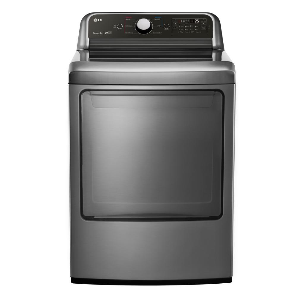 7.3 cu. ft. Gas Dryer in Graphite Steel