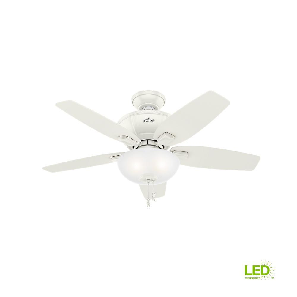 Hunter Kenbridge 42 In Led Indoor Noble Bronze Ceiling Fan 51101 Light Kit Wiring Diagram Further Fresh White