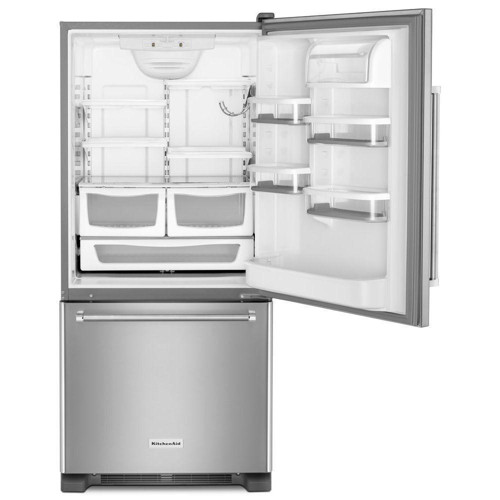Amazing +2. KitchenAid 30 In. W 19 Cu. Ft. Bottom Freezer Refrigerator ...