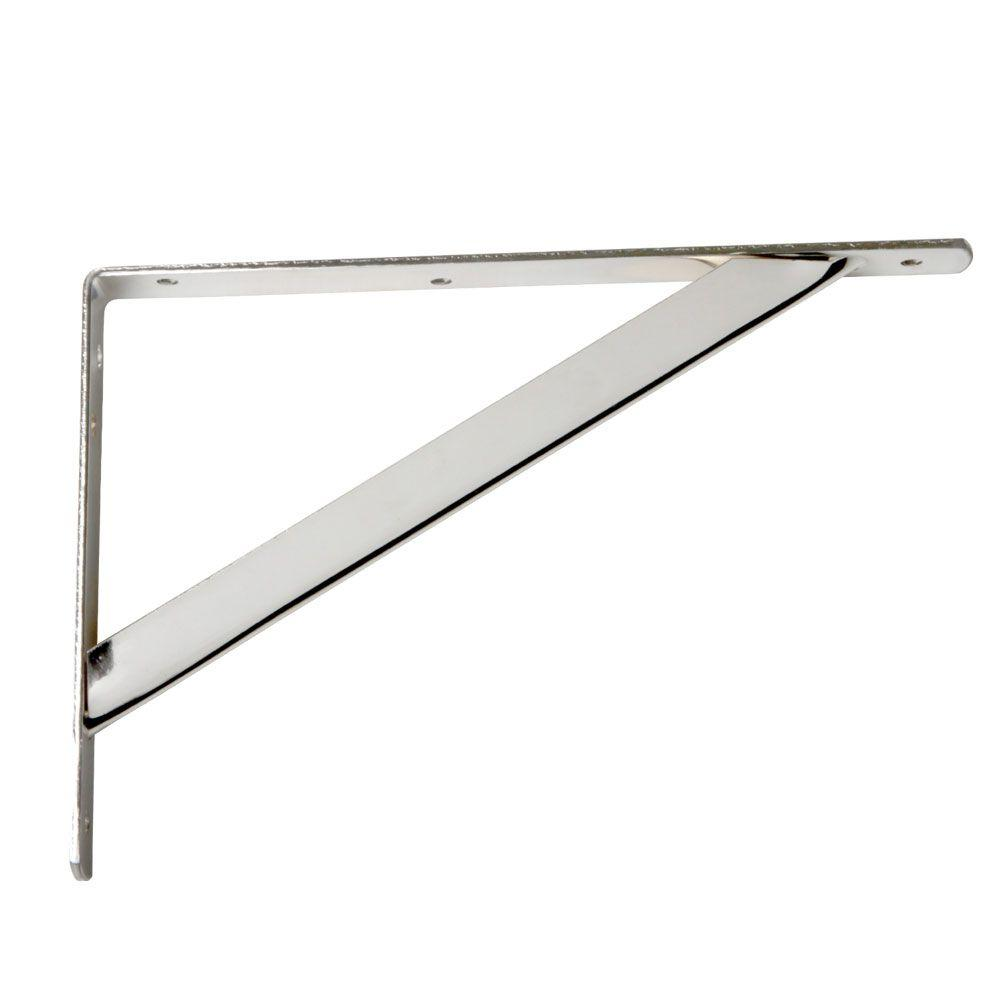 11-1/4 in. x 7.75 in. Heavy-Duty Chrome Closet Shelf Bracket