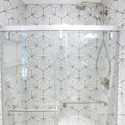 Aster Hex Blanco Encaustic 8-5/8 in. x 9-7/8 in. Porcelain Floor and Wall Tile (11.56 sq. ft. / case)
