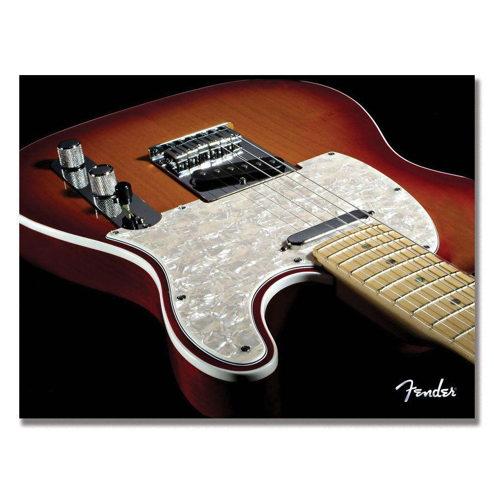 Trademark Fine Art 35 in. x 47 in. Fender Telecaster Canvas Art