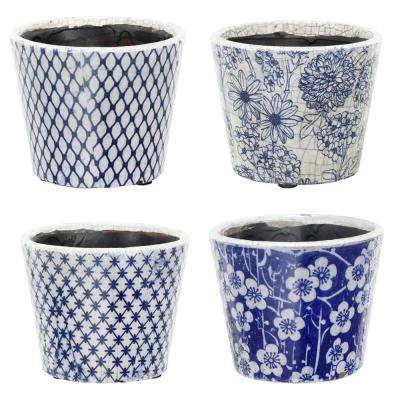7.5 in. x 6 in. Terracotta Planters (4-Pack)