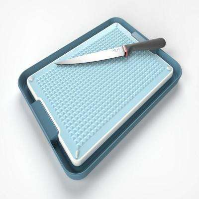 Chopping Board and Tray Set in Blue