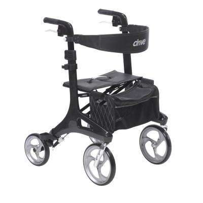Nitro Elite CF Carbon Fiber Walker Rollator in Black