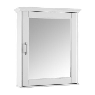 Ashburn 23 in. W x 28 in. H x 8 in. D Framed Surface-Mount Bathroom Medicine Cabinet in White