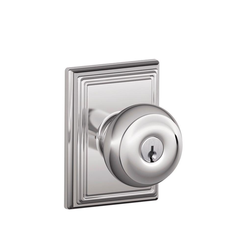 Keyed Entry - Schlage - Chrome - Door Knobs - Door Hardware - The ...