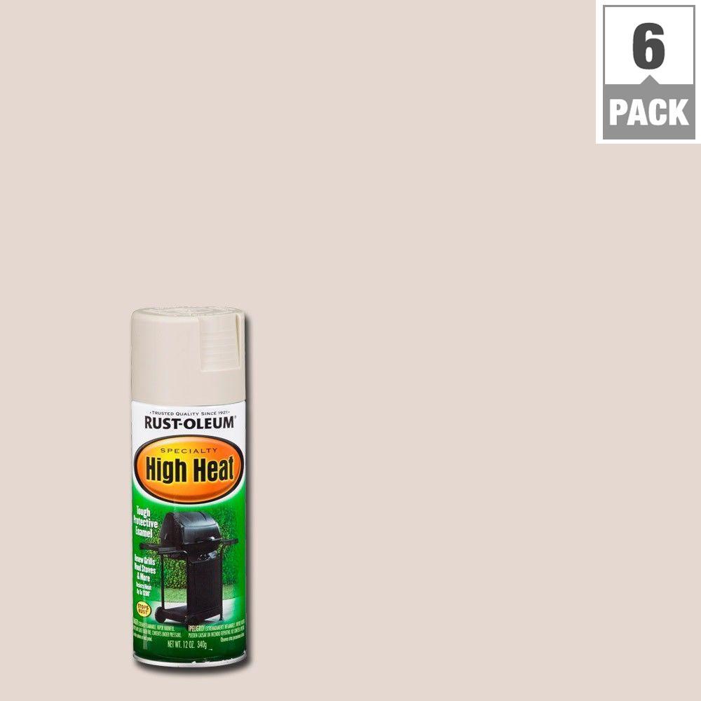 Rust-Oleum Specialty 12 oz. Almond High Heat Spray Paint (6-Pack)