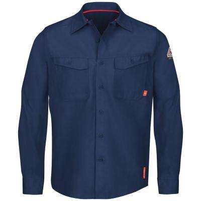 iQ Series Men's 5XL (Tall) Navy Endurance Work Shirt