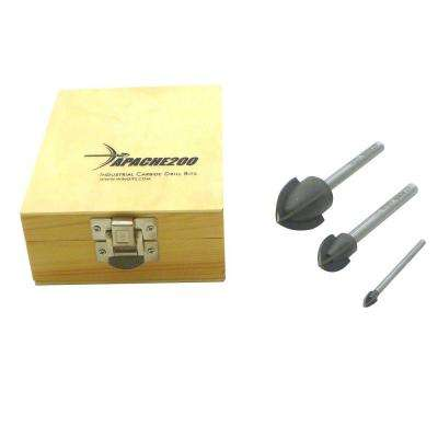 Apache200 1/4 in., 3/4 in. and 1-1/4 in. Drill Bit Set (3-Piece)