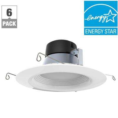 6in. White Integrated LED Recessed Trim (6-Pack)