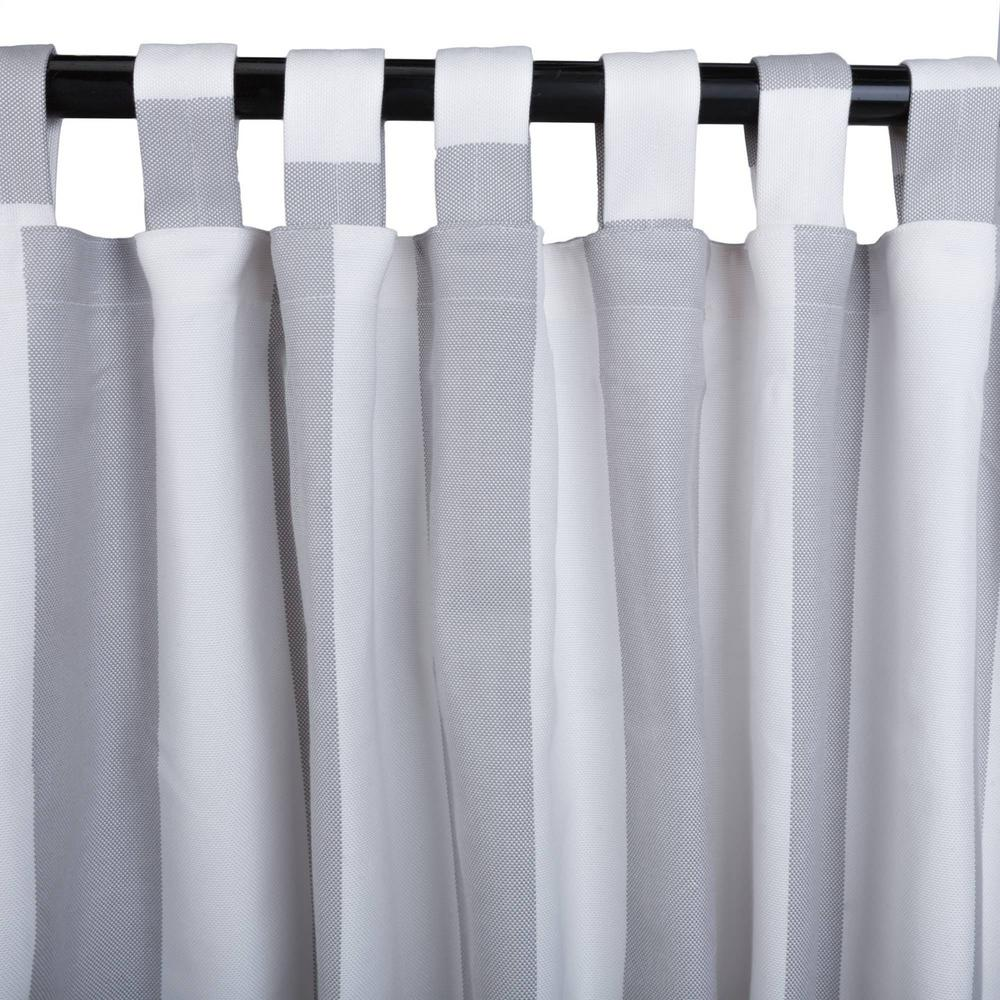 50 in. x 84 in. Outdoor Single Curtain with Tabs in