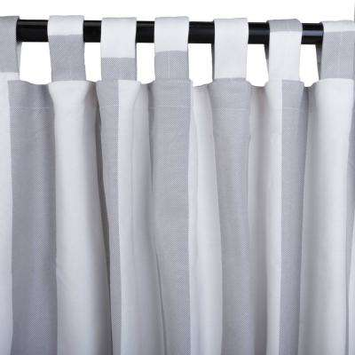 50 in. x 84 in. Outdoor Single Curtain with Tabs in Seagull