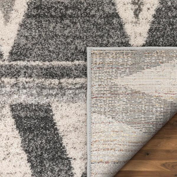 Well Woven Lisbon Minas Distressed Geometric Diamond Pattern Grey 7 Ft 10 In X 9 Ft 10 In Area Rug Lis 97 7 The Home Depot