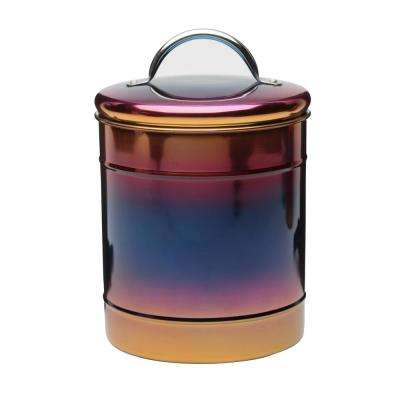 Rainbow 64 oz. Metal Storage Canister with Iridescent