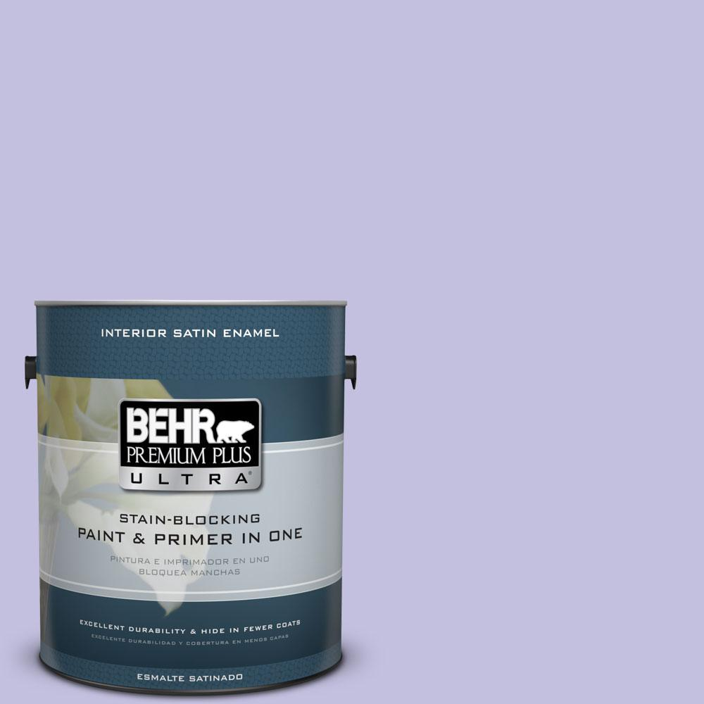 BEHR Premium Plus Ultra 1-gal. #630A-3 Weeping Wisteria Satin Enamel Interior Paint