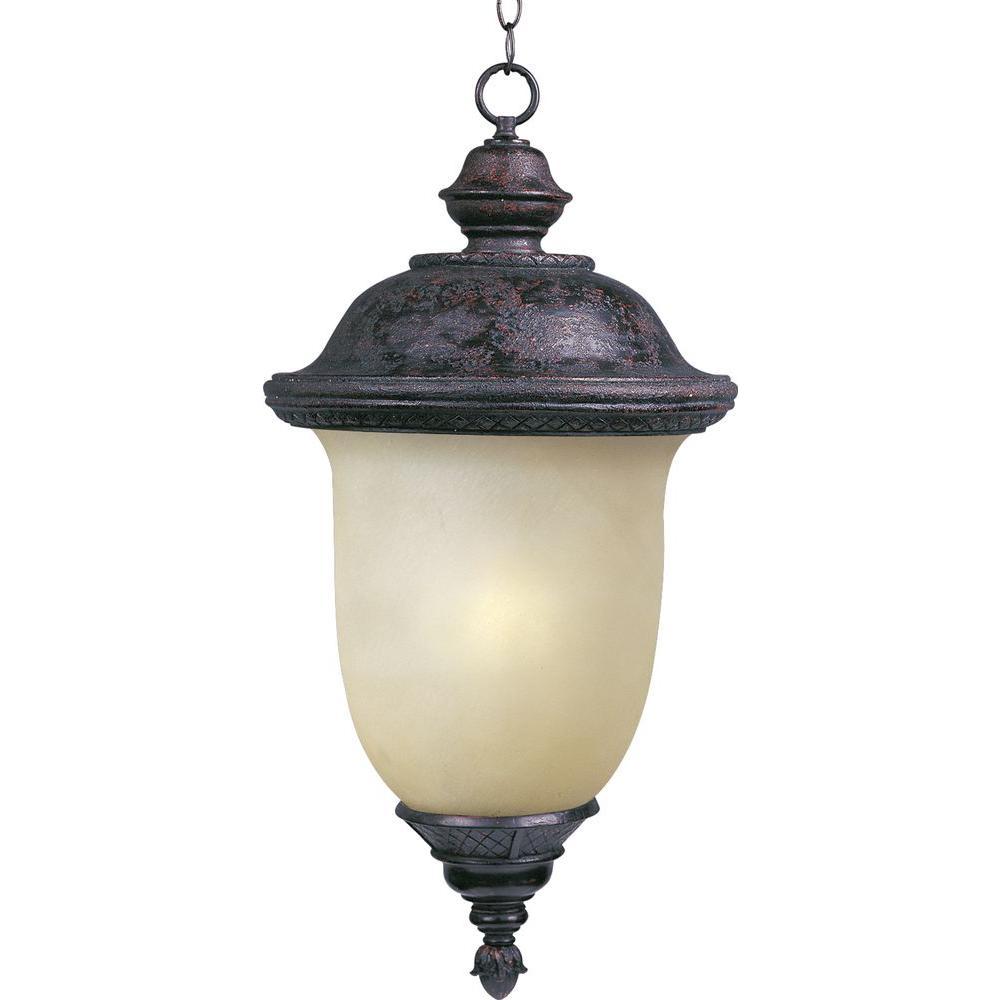 Carriage House EE 1-Light Oriental Bronze Outdoor Hanging Lantern