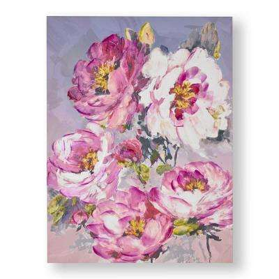 """31 in. x 24 in. """"Chelsea Blooms"""" Printed Canvas Wall Art"""