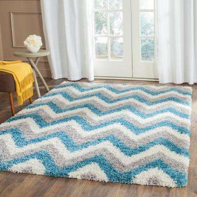 Bright Entryway Blue Kids Rugs Rugs The Home Depot