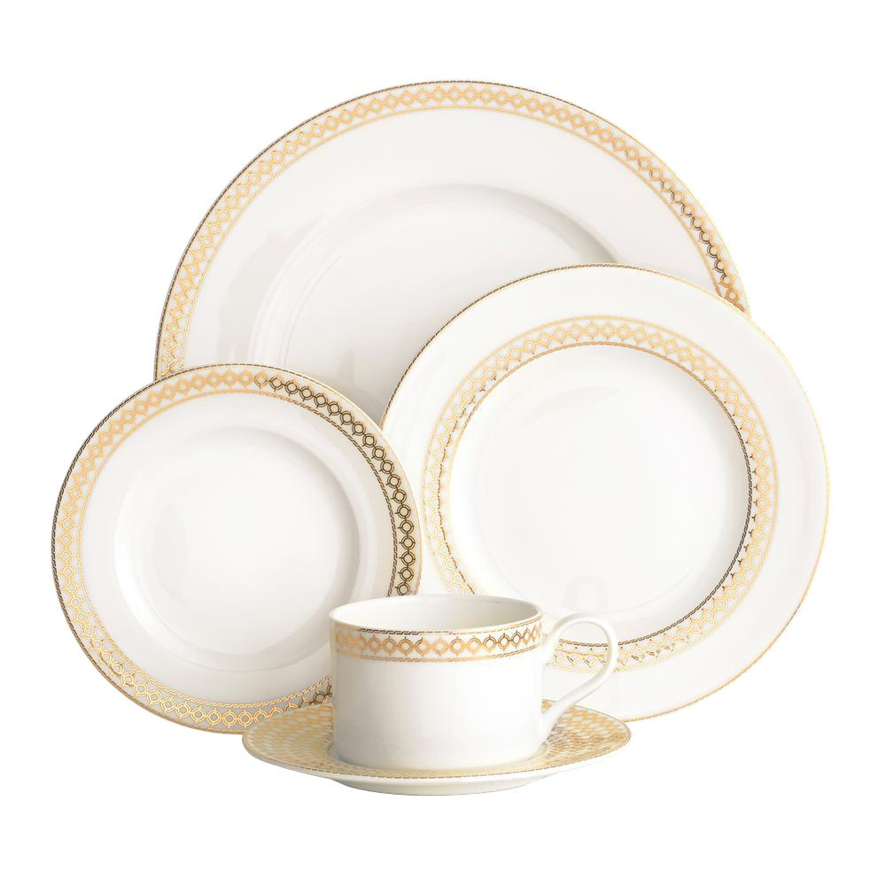 Auratic Chantilly 5-Piece Place Setting-15-00079-99