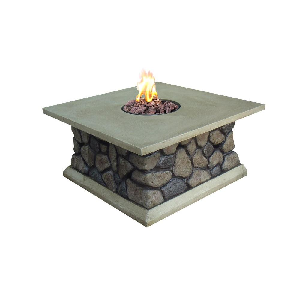 null Tuscan Ridge Propane Gas Fire Pit-DISCONTINUED