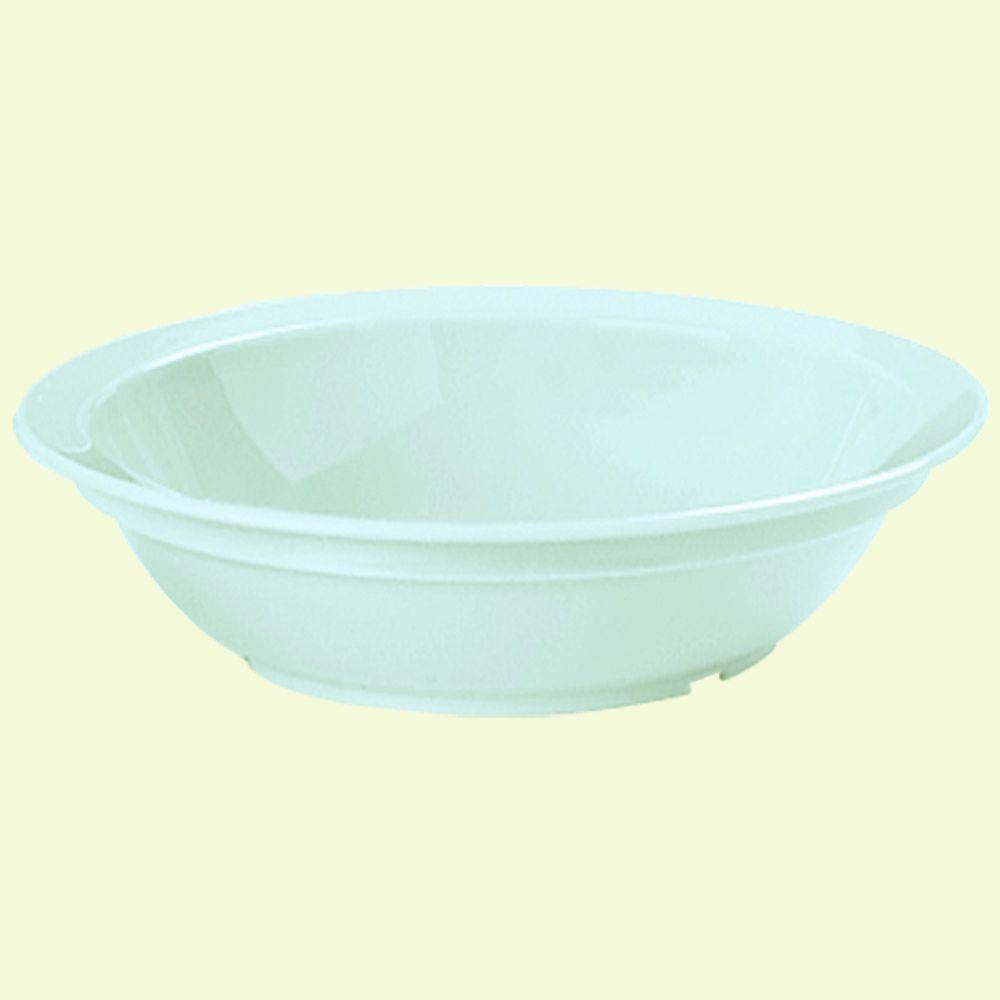 6 in. Diameter, 10 oz. Polycarbonate Commercial Rimmed Grapefruit Bowl in