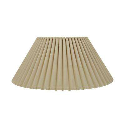 18 in. x 8.75 in. Beige Pleated Empire Lamp Shade