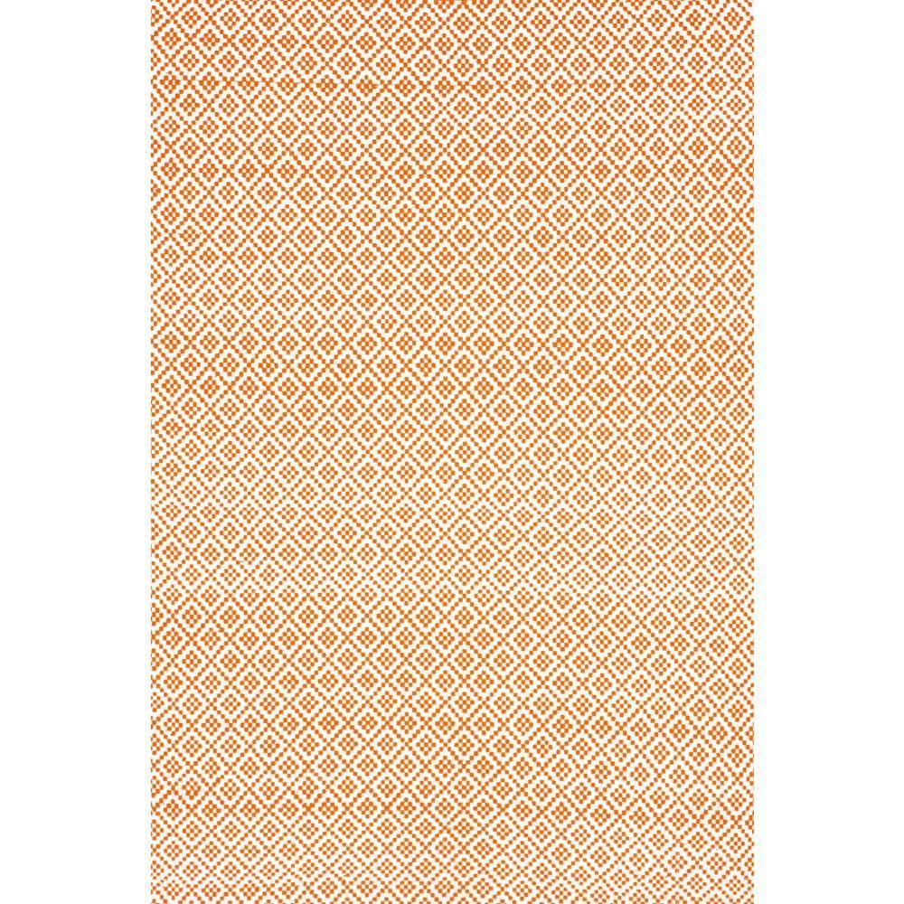 Nuloom Washable Rugs: NuLOOM Diamonds Cotton Trellis Orange 9 Ft. X 12 Ft. Area