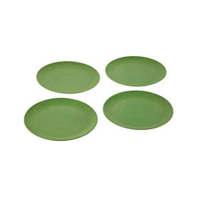 EVO Sustainable Goods 8 in. Green Eco-Friendly Wood-Plastic Composite Plate (Set of 4)