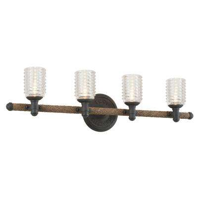 Embarcadero 4-Light Shipyard Bronze Vanity Light