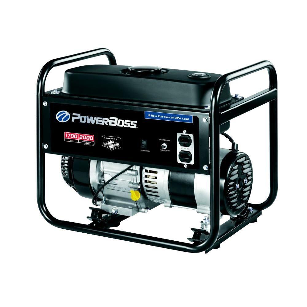 PowerBoss 1,700-Watt Gasoline Powered Portable Generator with Briggs & Stratton Engine