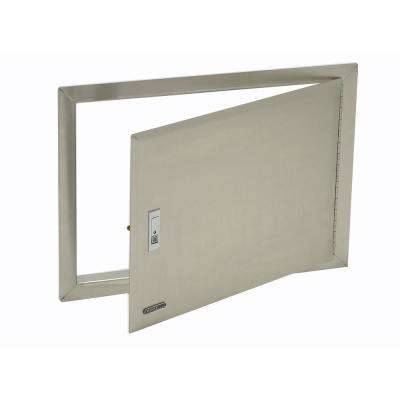 25.62 in. x 18.12 in. x 1.50 in. Built-in Single Storage Door Horizontal Design with Lock and Key