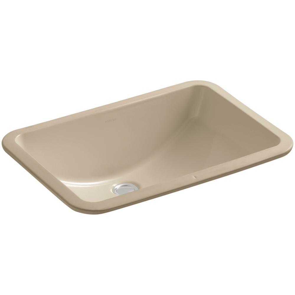 "Ladena 20 7/8"" Undermount Bathroom Sink with Glazed Underside in Mexican Sand"