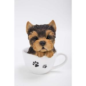 Teacup Yorkshire Terrier Puppy Statue