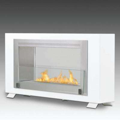 Montreal 2-sided 41 in. Ethanol Free Standing Fireplace in Gloss White