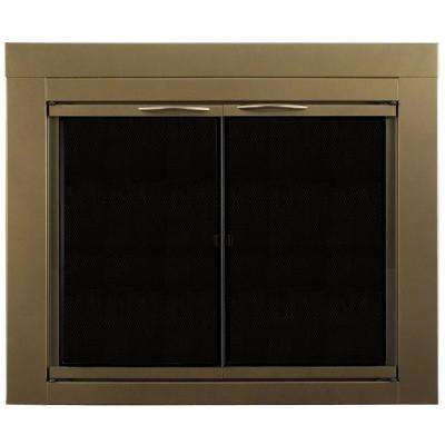 Ashlynn Large Glass Fireplace Doors