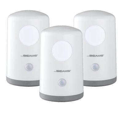 Stand Anywhere Motion Activated Battery Powered 20-Lumen LED Night Light, White (3-Pack)