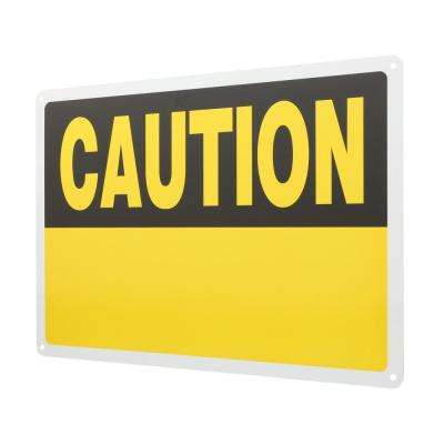 10 in. x 14 in. Aluminum Blank Caution Sign
