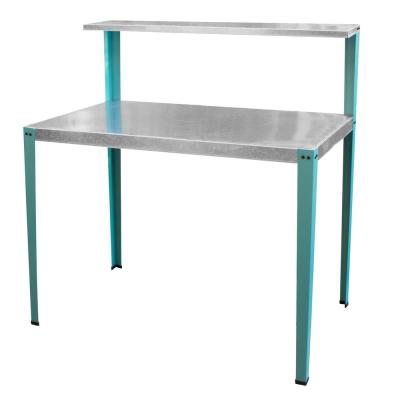 Multi-Use Steel Table/Work Bench with Teal Legs