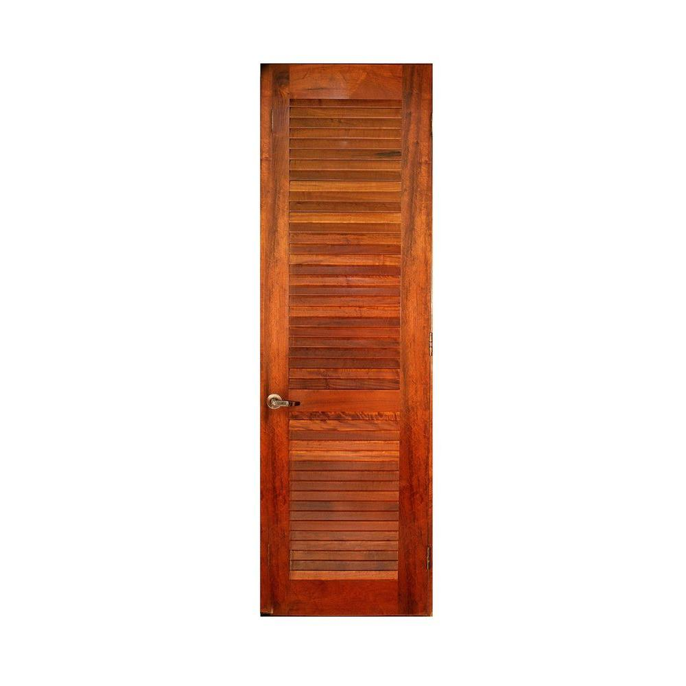 Greenwood 24 In X 80 In Full Louver Hardwood Interior Door Slab