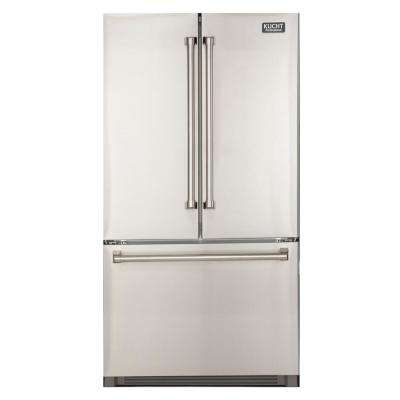 26.1 cu. ft. 36 in. W French Door Refrigerator in Stainless Steel with Interior Ice Maker, Standard Depth