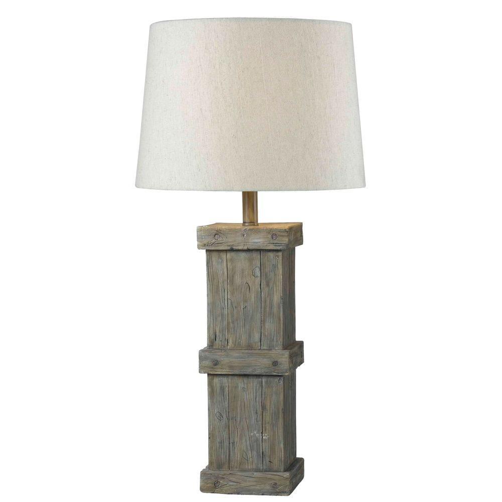 Kenroy Home Chandler 31 in. Wood Grain Table Lamp
