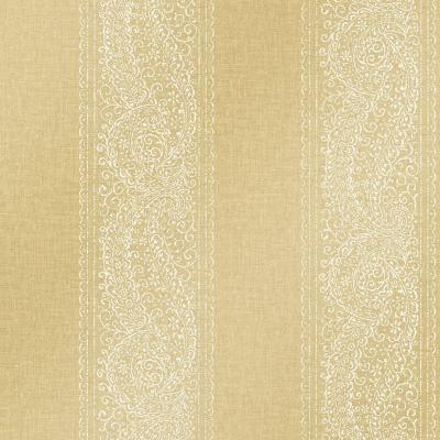 Arcades Gold Paisley Stripe Wallpaper