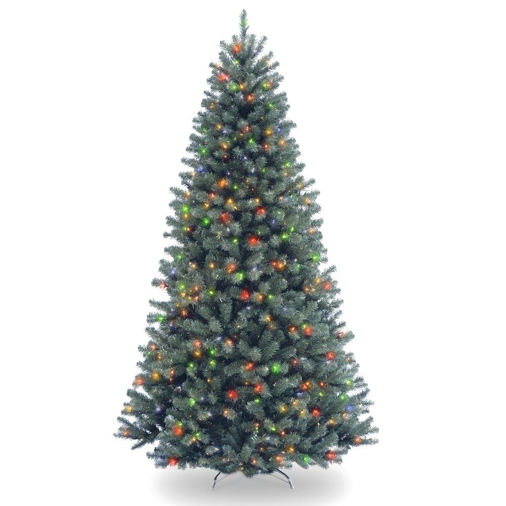 national tree company 75 ft north valley blue spruce artificial christmas tree with multicolor lights