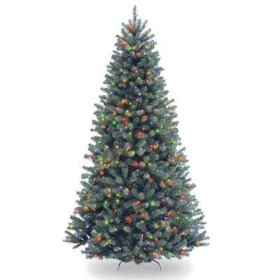 7.5 ft. North Valley Blue Spruce Artificial Christmas Tree with Multicolor Lights