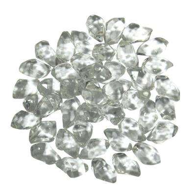 0.75 in. Crystal Clear Smooth Fire Glass