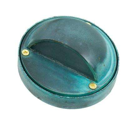 1-Light Verde Green Die Cast Brass Step Light