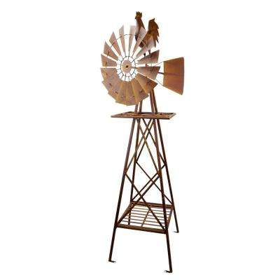 Rustic Rooster Windmill